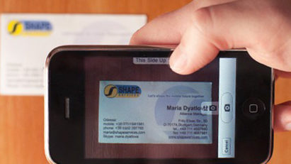 Easily Scan Business Cards