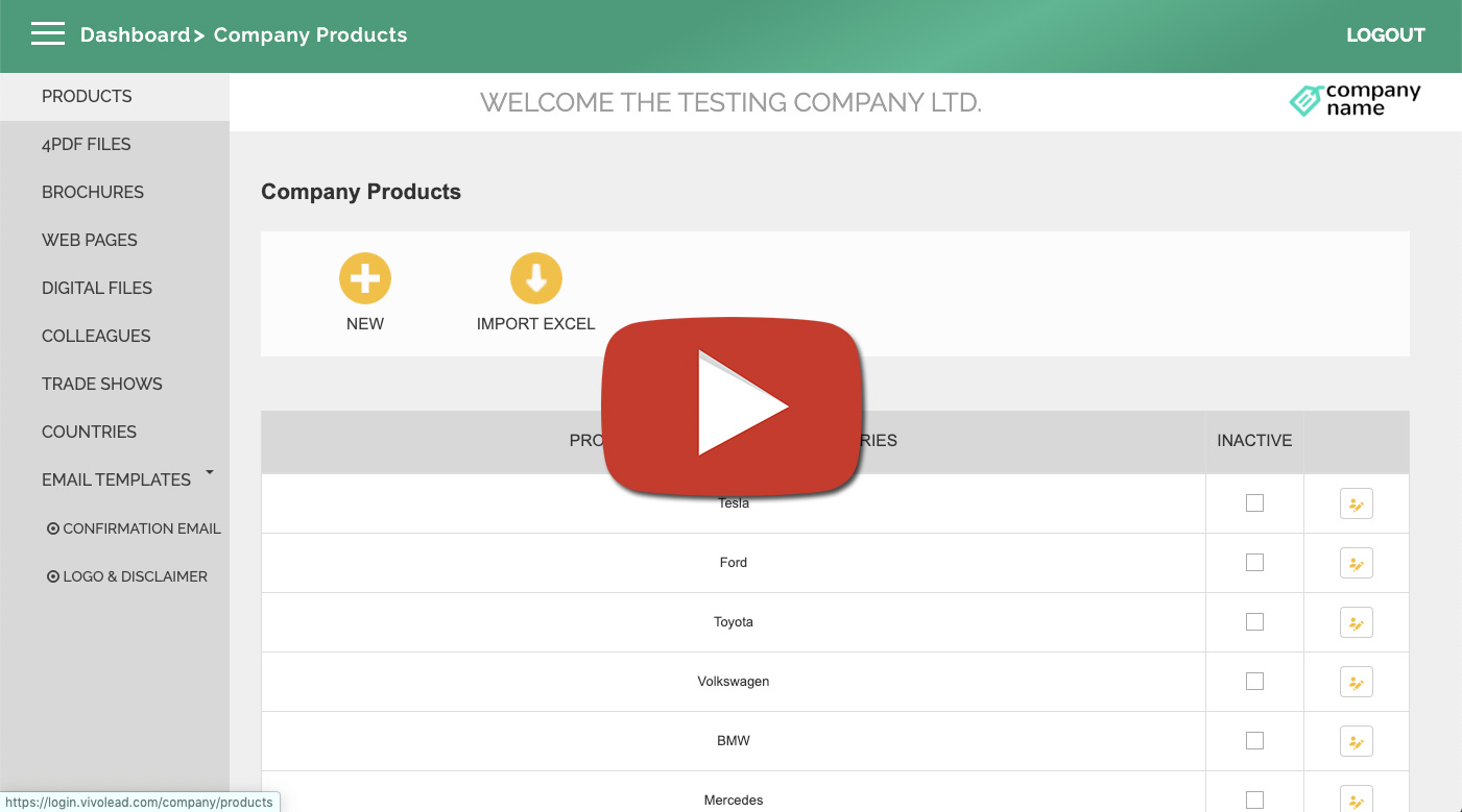 Creating product categories in web dashboard