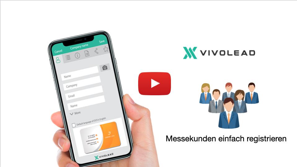 Einfache Registrierung von Kunden in der VivoLead-App app in 2 minuten.